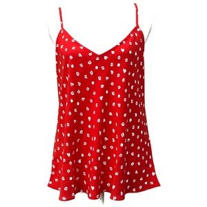 NWT RACHEL ZOE RED FLORAL TANK!